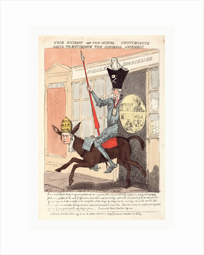The Knight of the Woeful Countenance Going to Extirpate the National Assembly by Anonymous