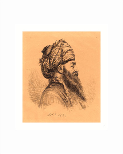 Profile Head of Oriental in Turban by Anonymous