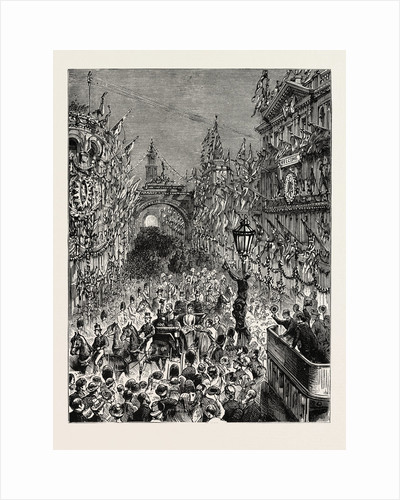The Royal Visit to Ireland: The Entry Into Belfast: The Royal Procession Passing Down Donegall Place by Anonymous