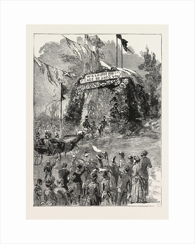 The Royal Couple Passing Under the Triumphal Arch at Fishbourne on Their Way to Quarr Abbey by Anonymous