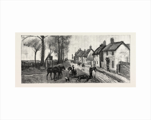 The Sensational Run of the Bicester Hounds, Death of Lady Chesham's Mare in the Village of Chesterton by Anonymous