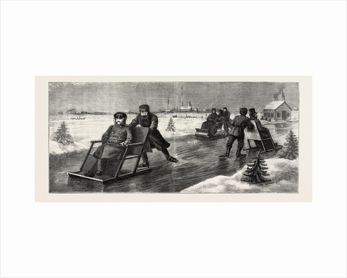 Winter in Russia, Crossing the Neva on Skating Sledges by Anonymous