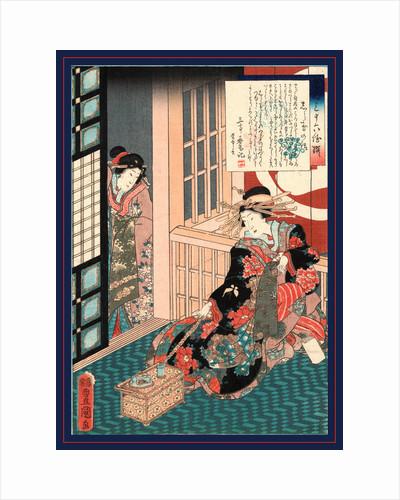 Siratama no hanashi, Tale of the courtesan Shiratama by Utagawa Toyokuni
