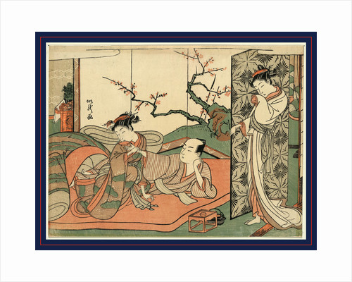 Futon No Ue No Sinzou to Sore O Nagameru Yujo, Courtesan Watching a Young Apprentice in Bed by Anonymous
