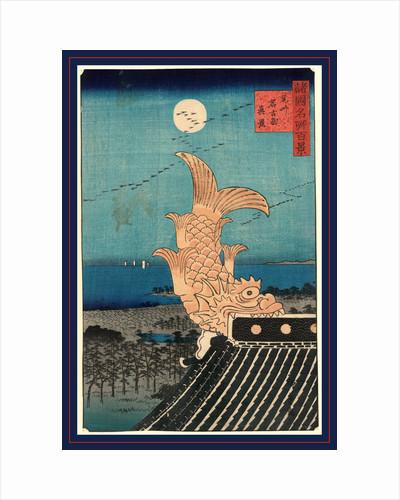 Bishu Nagoya Shinkei View of Bishu Nagoya. Hiroshige, 1826?-1869, by Anonymous
