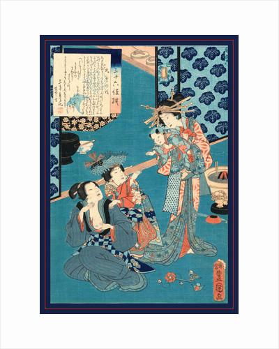 Kokonoe no hanashi, Tale of the courtesan Kokonoe by Utagawa Toyokuni