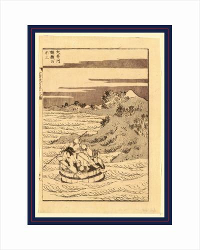 Ooigawa Okegoe No Fuji, Viewing Mount Fuji from a Bucket Boat Going Down the River Oi by Anonymous