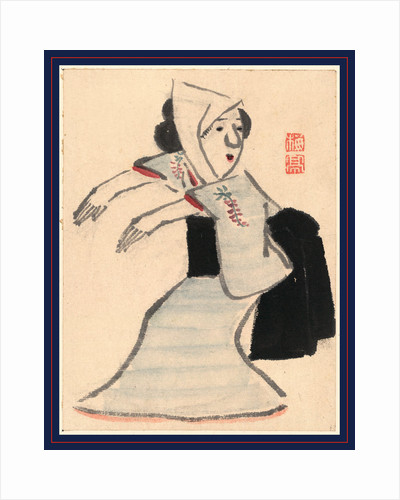 Caricature of a Woman Dancing by Anonymous