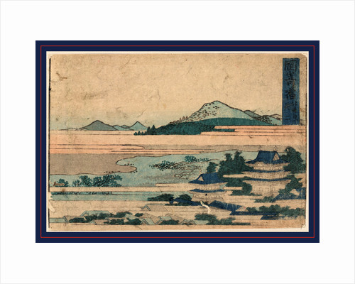 Bird's-Eye View of a Castle or Temple Buildings in Landscape with Mountains. by Anonymous