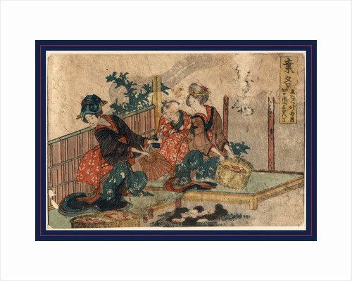 Two Woman and a Child with Baskets of Eggs or Colored Stones by Anonymous