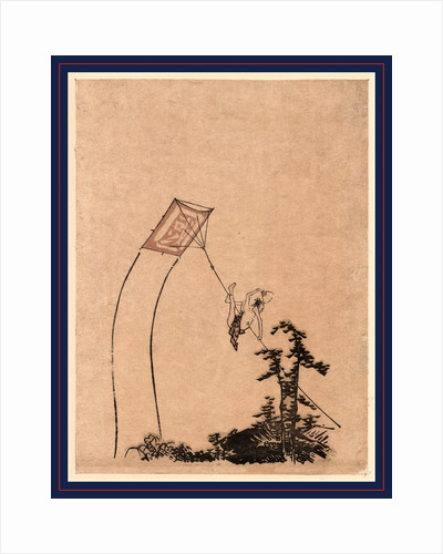 Man, Hovering Over Nearby Trees, Apparently Impaled on a String Attached to a Flying Kite. by Anonymous