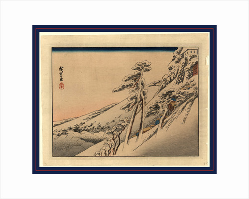 Pilgrims Ascending Snow-Covered Hillside Toward Temple at Summit by Anonymous