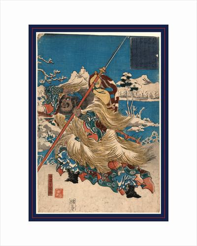 Chohi (azana yokutoku), The Chinese Three Kingdoms warrior Zhang Fei by Utagawa Yoshiume