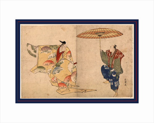 Two Dancers, One Holding a Fan and the Other Holding a Parasol by Anonymous