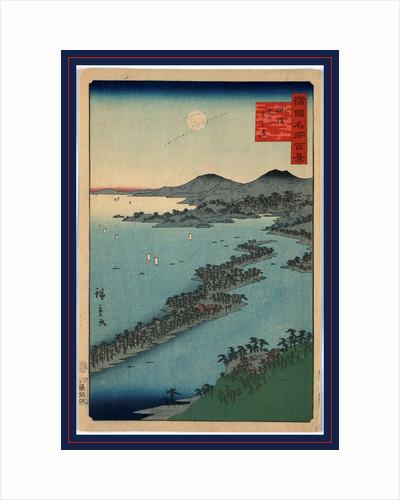 Bird's-Eye View of Ama No Hashidate, a Long Peninsula Extending Into Miyazu Bay. by Anonymous