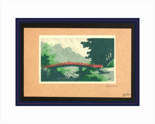 Uchu no sinkyo, Rain over sacred bridge (shinkyo) by Uehara Konen