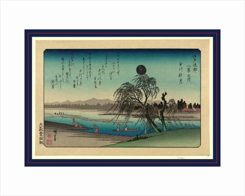 Tamagawa no shugetsu, Autumn moon over Tama River by Ando Hiroshige