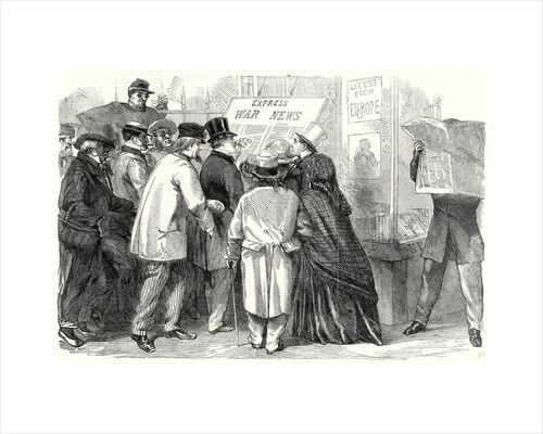 The War in America Reading the War News in Broadway New York 15 June 1861 by Anonymous