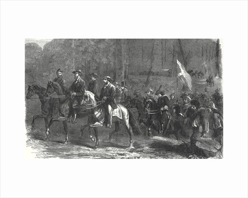 End of the American Civil War Flight of President Jefferson Davis and His Ministers Over the Georgia Ridge Five Days Before His Capture 1 July 1865 by Anonymous