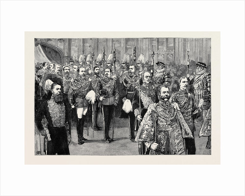 The Wedding Procession in St. George's Chapel: The Third Procession, the Bridegroom and His Supporters by Anonymous