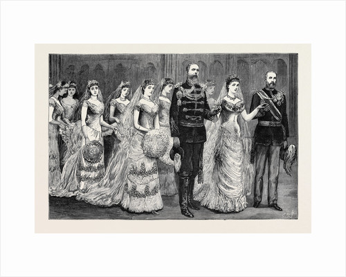 The Wedding Procession in St. George's Chapel: The Fourth Procession, the Bride and Her Supporters by Anonymous