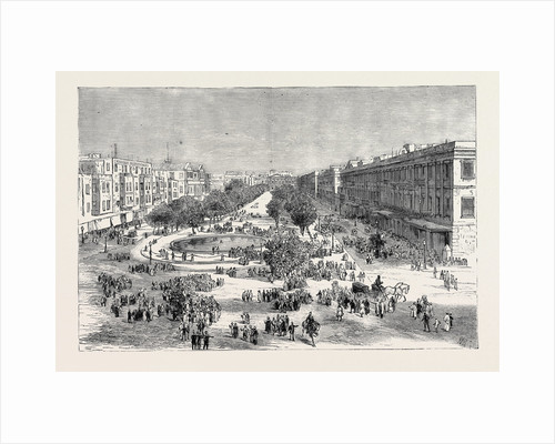 The Crisis in Egypt: The Great Square, Alexandria, Scene of the Recent Rising against the European Inhabitants by Anonymous