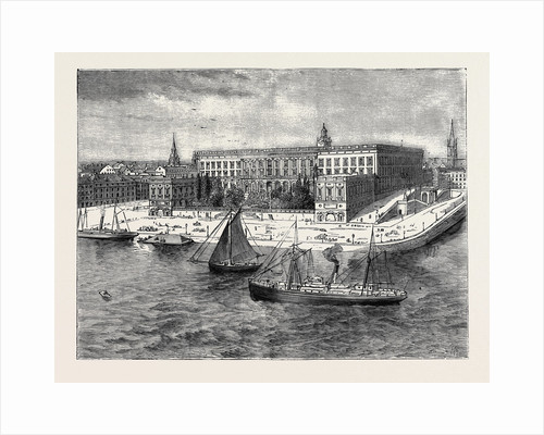 The Royal Silver Wedding at Stockholm, Views of the City: The Royal Palace by Anonymous