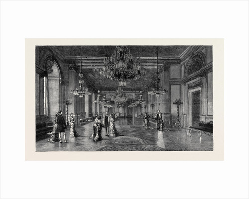 The Royal Silver Wedding at Stockholm: The White Sea Saloon in the Royal Palace by Anonymous