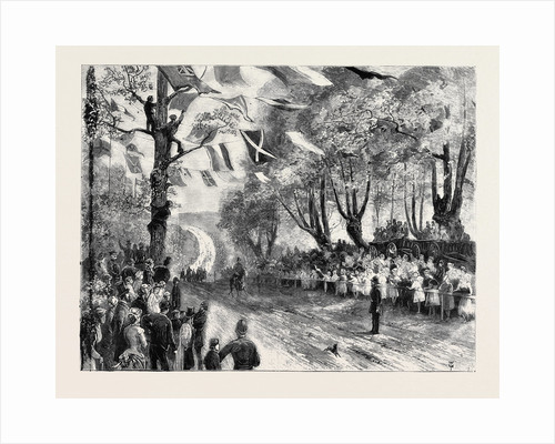 The Queen's Visit to Epping Forest: The Royal Procession Entering High Beech Wood by Anonymous