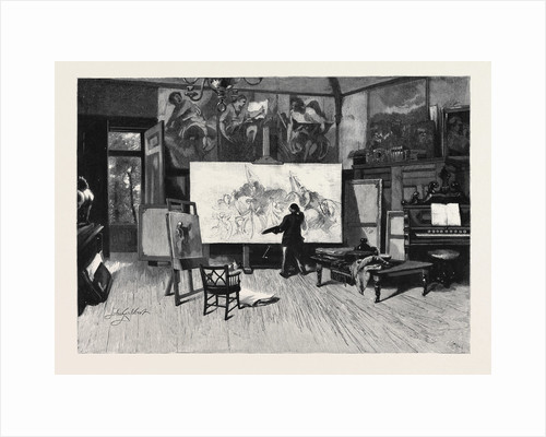 A Painter at Work in His Studio from the Picture by Sir John Gilbert, R.A. by Anonymous