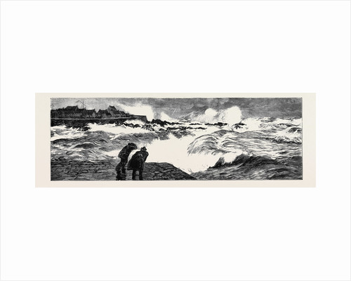 Pouring Oil on the Troubled Waters at Peterhead, March 1, 1882: Condition of the Sea Before Applying the Oil by Anonymous