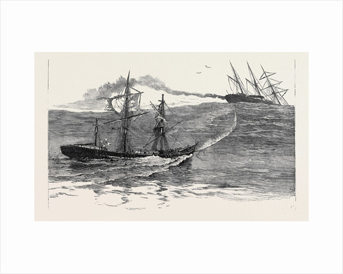 A Disaster at Sea: The S.S. Palmyra Towing the Derelict Barque Norton Towards Falmouth by Anonymous