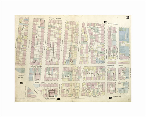 Map bounded by Chatham Square, Division Street, Market Street, South Street, James Slip, James Street. 1857 by Anonymous