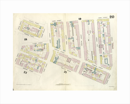 Map bounded by Hamersley Street, Houston Street, Sullivan Street, Spring street, Thompson Street, Grand Street, Sullivan Street, Broome Street, Clarke Street, Spring Street, Varick Street. 1857 by Anonymous