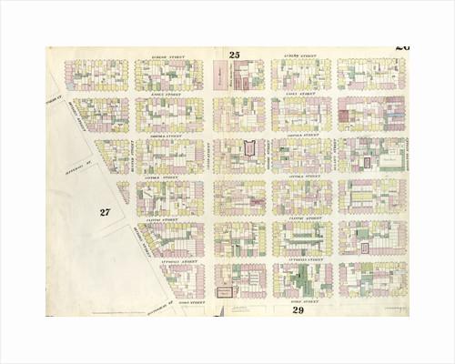 Map bounded by Rivington Street, Ridge Street, Division Street, Canal Street, Ludlow Street. 1857 by Anonymous