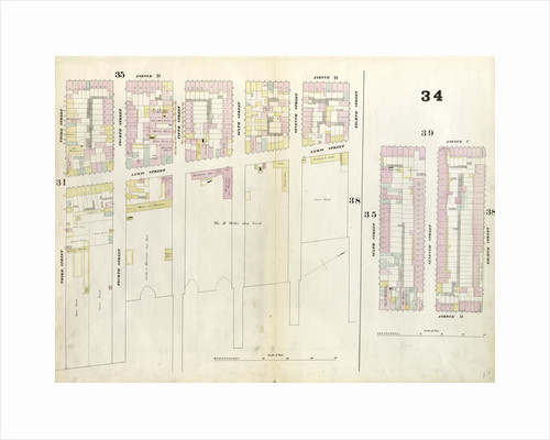 Map bounded by 8th Street, East river, 3rd Street, Avenue D, 6th Street, Aventue C. 1857 by Anonymous