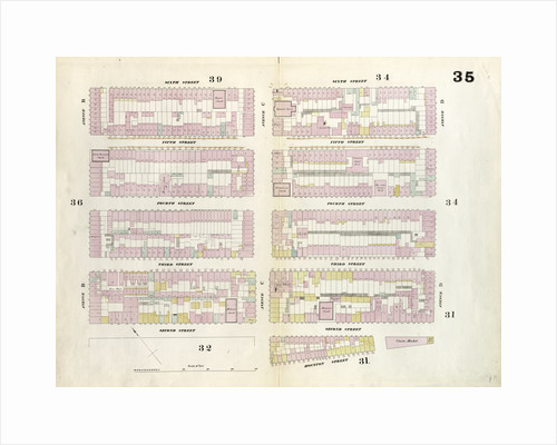 Map bounded by 6th Street, Avenue D, Houston Street, Pitt Street, 2nd Street, Avenue B. 1857 by Anonymous