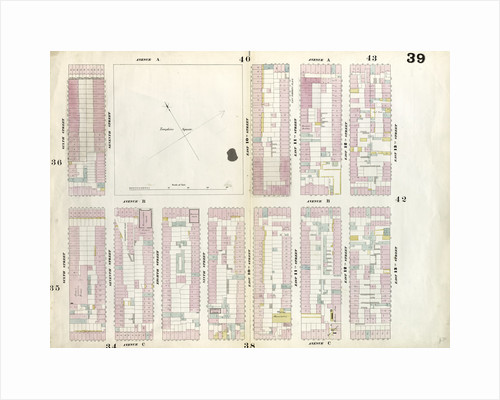 Map bounded by East 13th Street, Avenue C, 6th Street, Avenue A. 1857 by Anonymous
