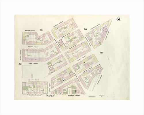 Map bounded by Bleeker Street, Cornelia Street, Sixth Avenue, Carmine Street, Bleeker Street, Hancock Street, Hammersley Street, Hudson Street, Barrow Street, Commerce Street. 1857 by Anonymous