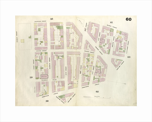 Map bounded by West 13th Street, Greenwich Avenue, 12th Street, Seventh Avenue, Greenwich Avenue, Perry Street, 4th Street, Charles Street, Bleeker Street, Hudson Street, Gansevoort Street. 1857 by Anonymous