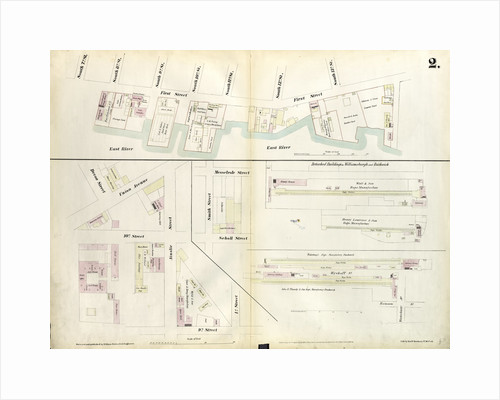 Map bounded by South 8th Street, 1st Street, Division Street, Devoe Street, Union Avenue, Ainslie Street, 1st Street, 9th Street, Smith Street, Messerole Street, Scholl Street, Waterbury Street, Remsen Street, Wyckoff Street. 1855 by Anonymous