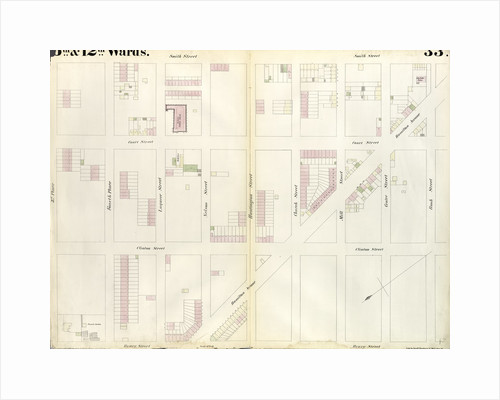 Map bounded by Third Place, Smith Street, Bush Street, Clinton Street, Hamilton Avenue, Henry Street. 1855 by Anonymous