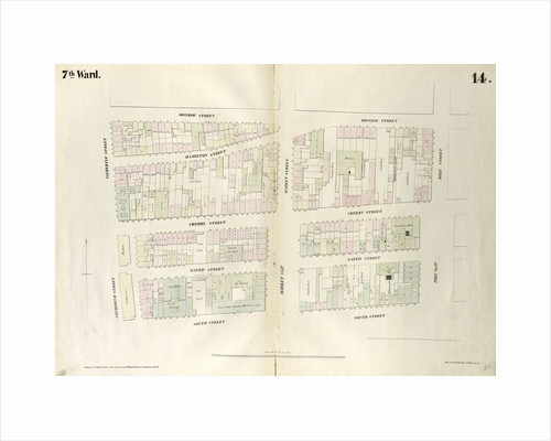 Map bounded by Monroe Street, Pike Street, South Street, Catherine Street. 1852, 1854 by Anonymous
