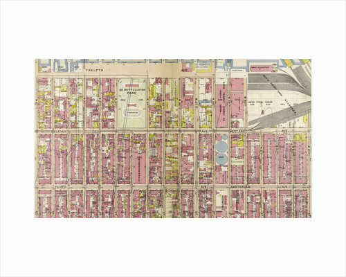 Bounded by Twelfth Avenue Hudson River Piers, W. 60th Street, West End Avenue, W. 64th Street, Columbus Avenue, and W. 47th Street, New York by Anonymous