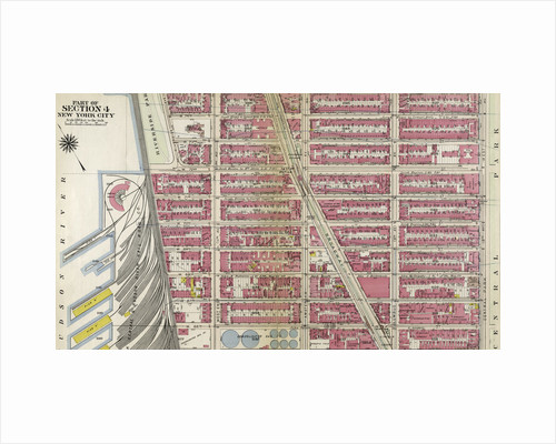 Bounded by W. 75th Street, Central Park West 8th Avenue, W. 64th Street, Hudson River Piers E-I, W. 72nd Street, and Riverside Avenue, New York by Anonymous