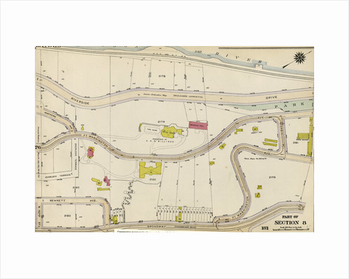 Bounded by Riverside Drive Hudson River, Corbin Place, Ft. Washington Avenue, Broadway, W. 192nd Street, Overlook Terrace and Northern Avenue, New York by Anonymous