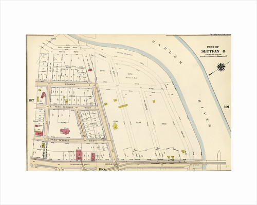 Bounded by Cold Spring Road, Indian Road Harlem River, Broadway, and W. 215th Street, New York by Anonymous