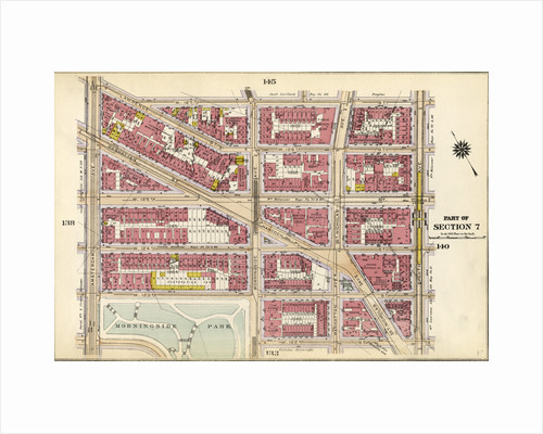 Bounded by Lawrence Street, W. 127th Street, Eighth Avenue, W. 122nd Street, Morningside Avenue, W. 123rd Street and Amsterdam Avenue, New York by Anonymous
