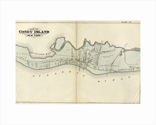 Map of Coney Island, New York by Anonymous