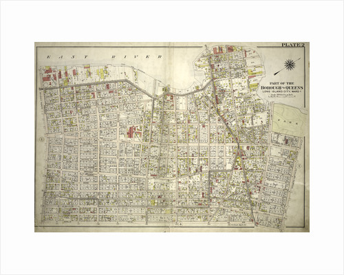 Bounded by East River Vernon Avenue, Boulevard, Fulton Avenue, Mill Street, Orchard Street, Boulevard, Hoyt Avenue, Barclay Street, Woolsey Avenue, Rapelje Avenue and Freeman Avenue, New York by Anonymous